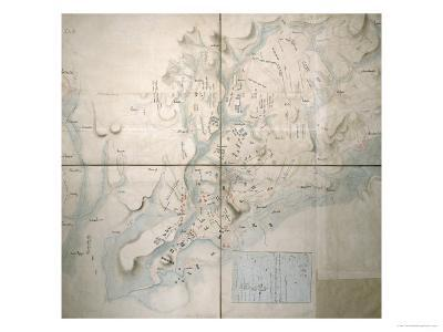 Map for the Battle of Austerlitz, December 2nd, 1805--Giclee Print