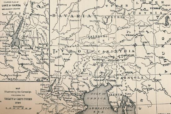 'Map Illustrating the Campaign Preceding the Treaty of Campo-Formio, 1797', (1896)-Unknown-Giclee Print