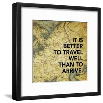 Map Inspirational Mate-Jace Grey-Framed Art Print