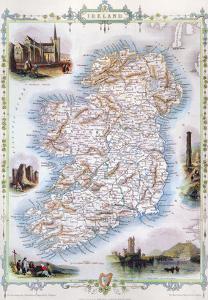 Map: Ireland, 1851