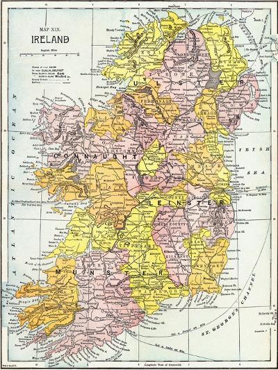 Map: Ireland, C1890--Giclee Print