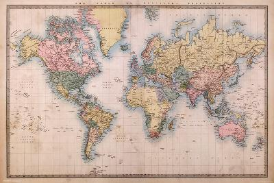 Map - Mercators Projection--Poster