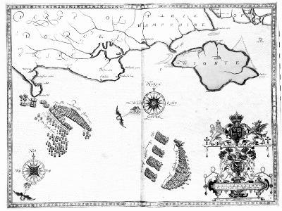 Map No.6 showing the route of the Armada fleet, engraved by Augustine Ryther, 1588-Robert Adams-Giclee Print
