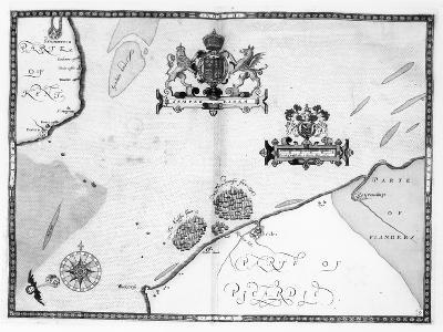 Map No.9 showing the route of the Armada fleet, engraved by Augustine Ryther, 1588-Robert Adams-Giclee Print