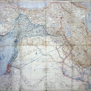 Map of 1910 Showing the Sykes-Picot Agreement of 1916