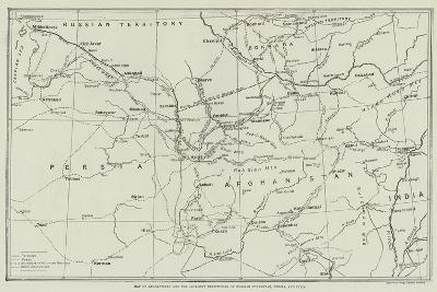 Map of Afghanistan and the Adjacent Territories of Russian Turkestan, Persia, and India--Giclee Print