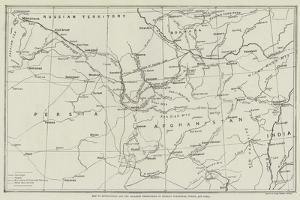 Map of Afghanistan and the Adjacent Territories of Russian Turkestan, Persia, and India