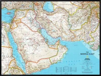 Map of Afghanistan, Pakistan and the Middle East