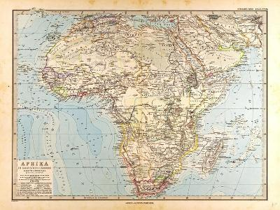 Map of Africa, 1872--Giclee Print