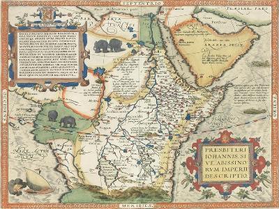 Map of Africa and the Arabian Peninsula-Abraham Ortelius-Giclee Print