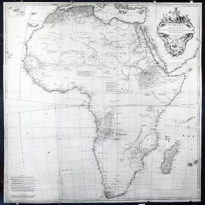 Map of Africa, Engraved by Guillaume Delahaye, 1749-French School-Giclee Print