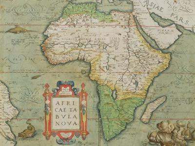 """Map of Africa, from the """"Theatrum Orbis Terrarum""""--Giclee Print"""