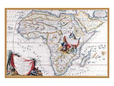 Map of Africa-Vincenzo Coronelli-Art Print