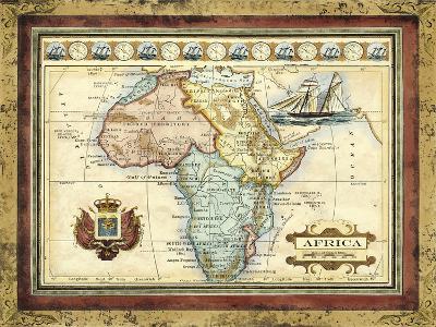 Map of Africa-Vision Studio-Art Print