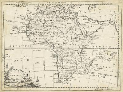 Map of Africa-T^ Jeffreys-Art Print