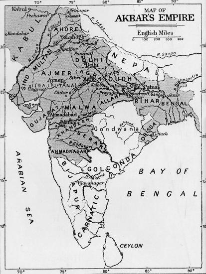 'Map of Akbar's Empire', c1912-Unknown-Giclee Print