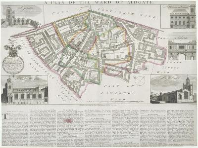 Map of Aldgate Ward, City of London, 1739-RW Seale-Giclee Print