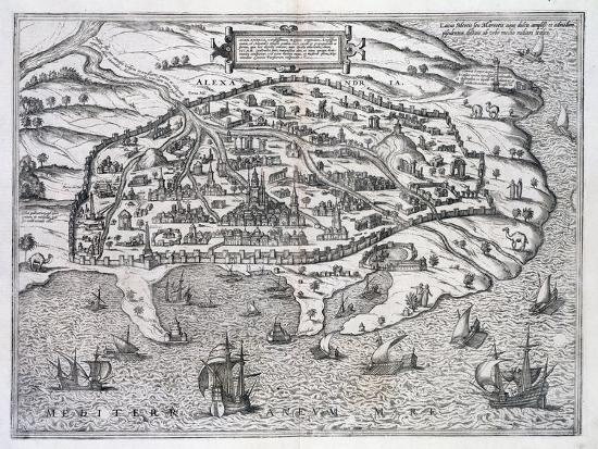 Map of Alexandria, Egypt, c1625-Unknown-Giclee Print