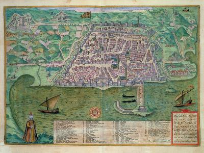Map of Algiers, from Civitates Orbis Terrarum by Georg Braun-Joris Hoefnagel-Giclee Print