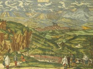 Map of Alhama De Granada from Civitates Orbis Terrarum