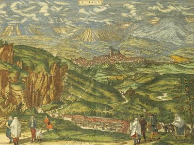 Map of Alhama De Granada from Civitates Orbis Terrarum--Giclee Print
