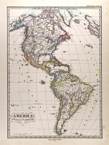 Map of America, 1872