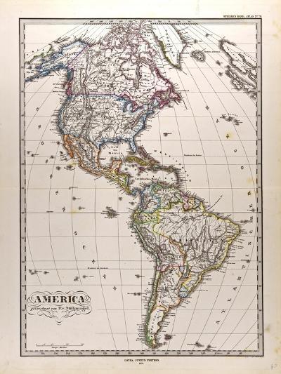 Map of America, 1872--Giclee Print