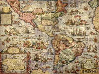 Map of America Created by Joan Blaeu, 1686