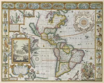 Map of America (Imaginaire)-Maria Mendez-Giclee Print