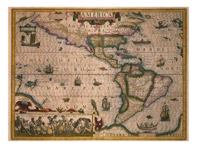 Map of America-Gerardus Mercator-Giclee Print