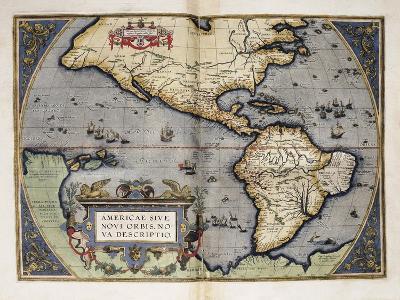 Map of America-Abraham Ortelius-Art Print
