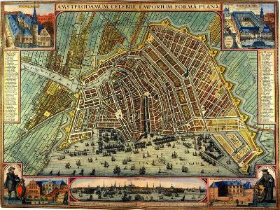 Map of Amsterdam 1633-Gerardus Mercator-Giclee Print