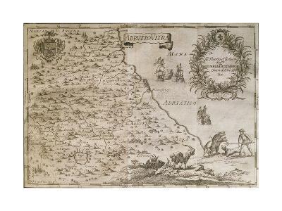 Map of Ancient Abruzzo, 1702-Giovan Battista Pacichelli-Giclee Print
