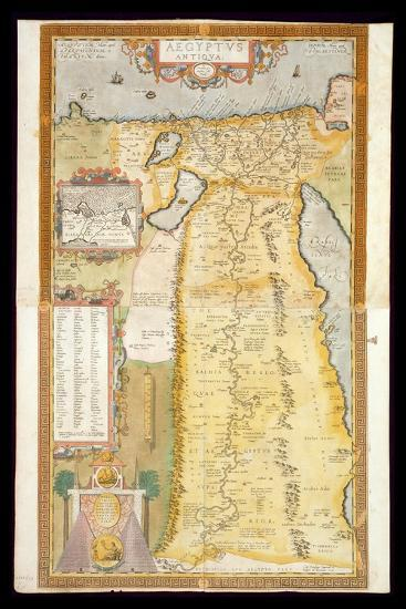 Map of Ancient Egypt, 1584-Abraham Ortelius-Stretched Canvas Print