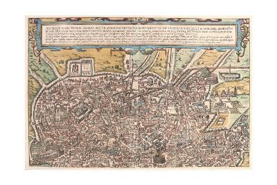 Map of Ancient Rome from Civitates Orbis Terrarum--Giclee Print