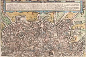 Map of Ancient Rome from Civitates Orbis Terrarum