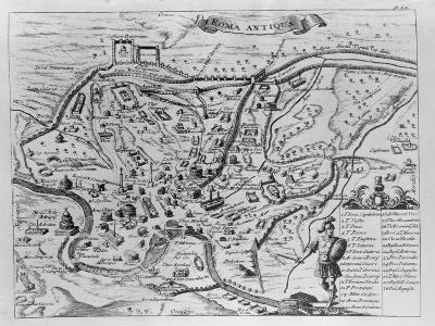 Map of Ancient Rome--Giclee Print