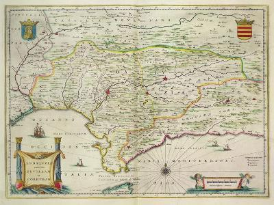 Map of Andalusia, Spain, 1634-Willem Blaeu-Giclee Print