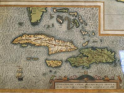 Map of Antilles Islands--Giclee Print