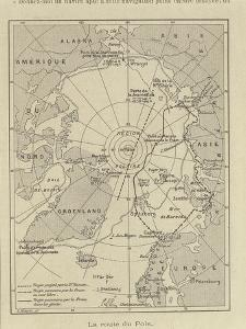 Map of Arctic Region Indicating Route Followed by Explorer Fridtjof Nansen on Board of Ship