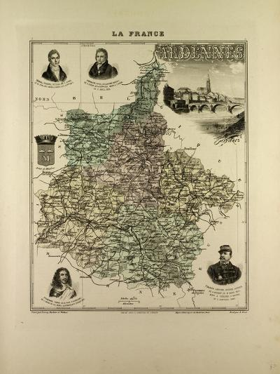 Map of Ardennes 1896 France--Giclee Print
