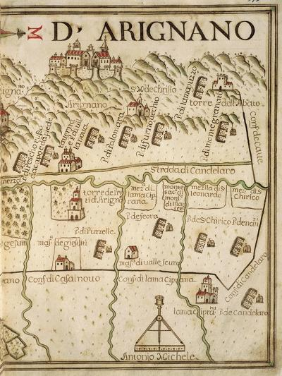 Map of Arignano, Italy, from the Atlas Atlante Delle Locazioni, 1687-1697-Antonio and Nunzio Michele-Giclee Print