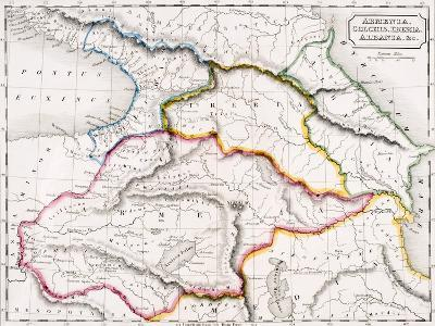 Map of Armenia, Colchis, Iberia and Albania, from 'The Atlas of Ancient Geography', by Samuel…--Giclee Print