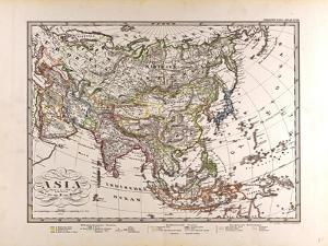 Map of Asia, 1872