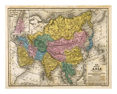 Map of Asia, c.1839-Samuel Augustus Mitchell-Art Print