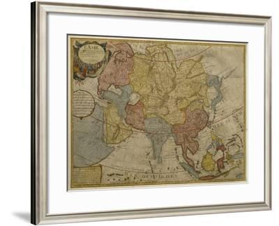 Map of Asia, Published in 1700, Paris-Guillaume Delisle-Framed Giclee Print