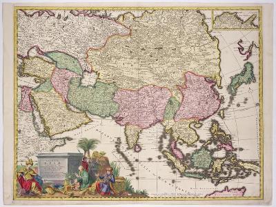 Map of Asia, Tartaria, Japan, the Philippines and East Indies, Engraved G. Van Gouwen, c.1690-Karel Allard-Giclee Print