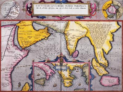 Map of Asia with a Superimposed Map of Europe, from 'Theatrum Orbis Terrarum', 1603-Abraham Ortelius-Giclee Print