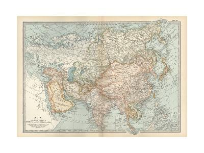 Map of Asia, with Special Reference to Siberia and Central Asia-Encyclopaedia Britannica-Giclee Print