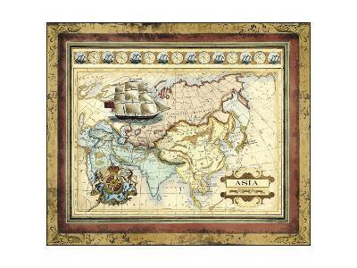 Map of Asia-Vision Studio-Art Print